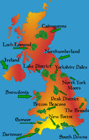 National Parks in England, source: mapsofdallas.blogspot
